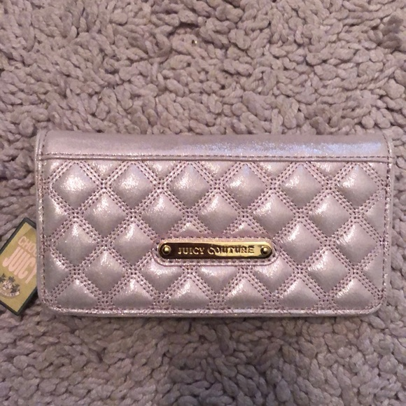 Juicy Couture Handbags - Nwt juicy couture wallet pink shimmer